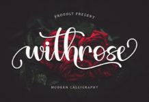 Free Withrose Calligraphy Font