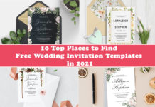 10 Top Places to Find Free Wedding Invitation Templates in 2021