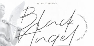 Free Black Angel Script Font
