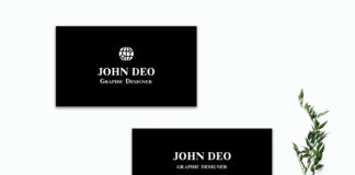 Free Black Innovative Business Card Template
