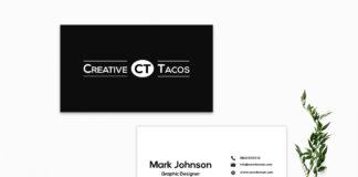 Free Black & White Business Card Template V2