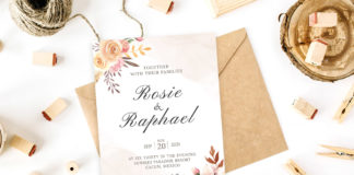 Free Blush Watercolor Wedding Invitation Template
