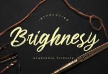 Free Brighnesy Handbrush Font