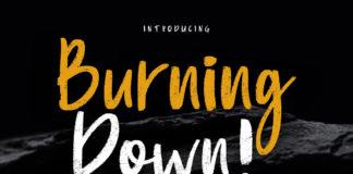 Free Burning Down Script Font