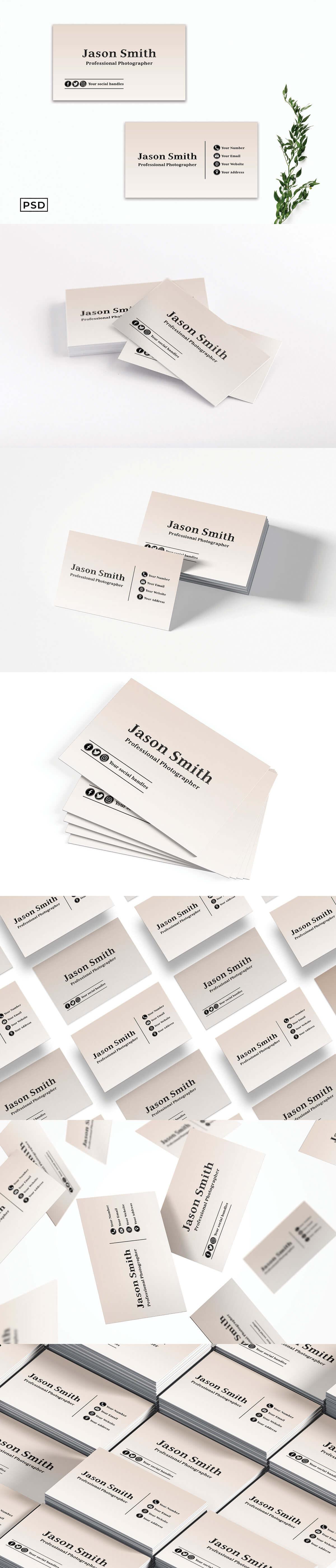 Free Creative Minimal Business Card Template