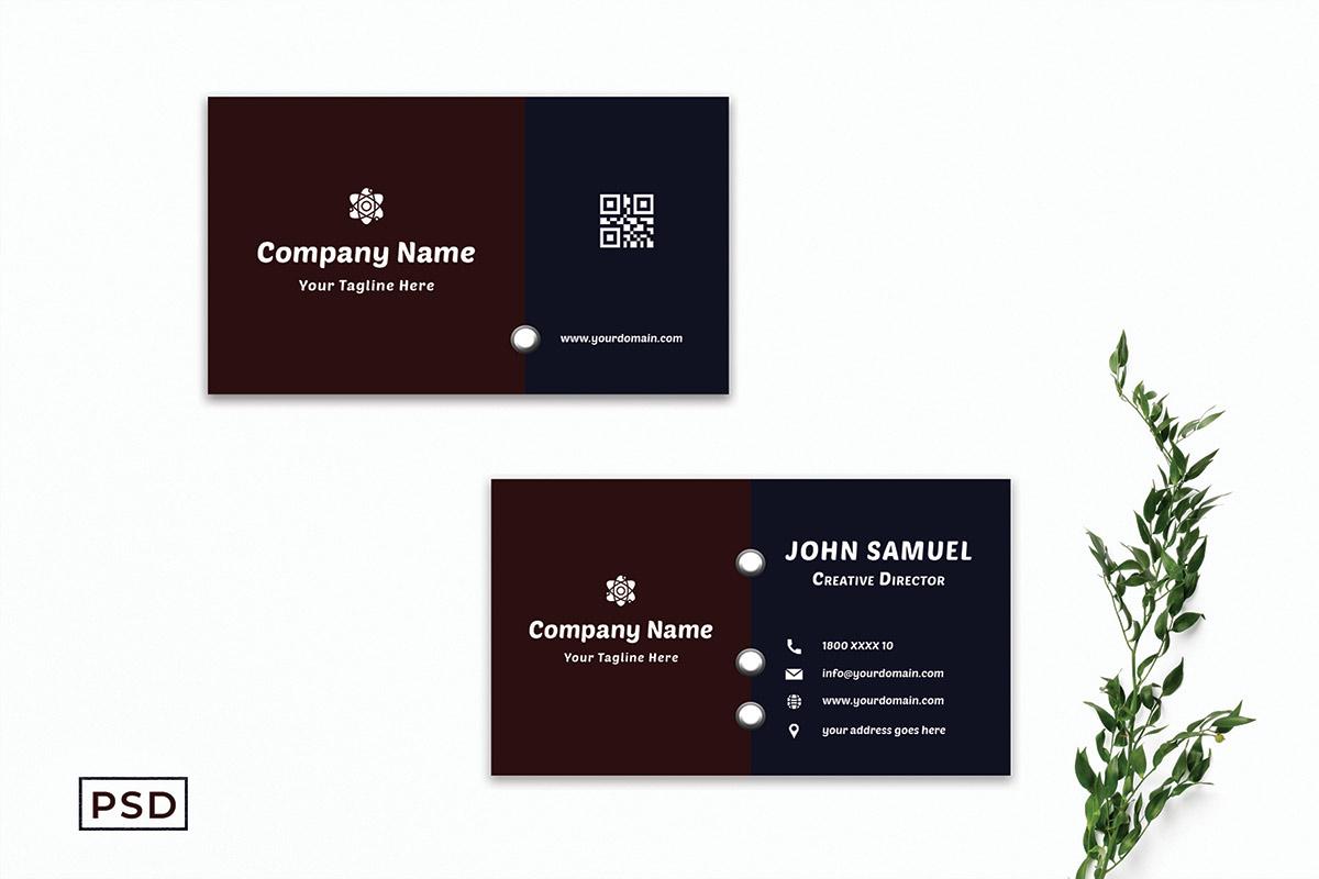 Free Creative Modern Dark Business Card Template