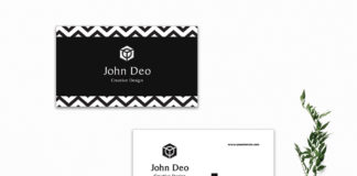 Free Decorative Business Card Template
