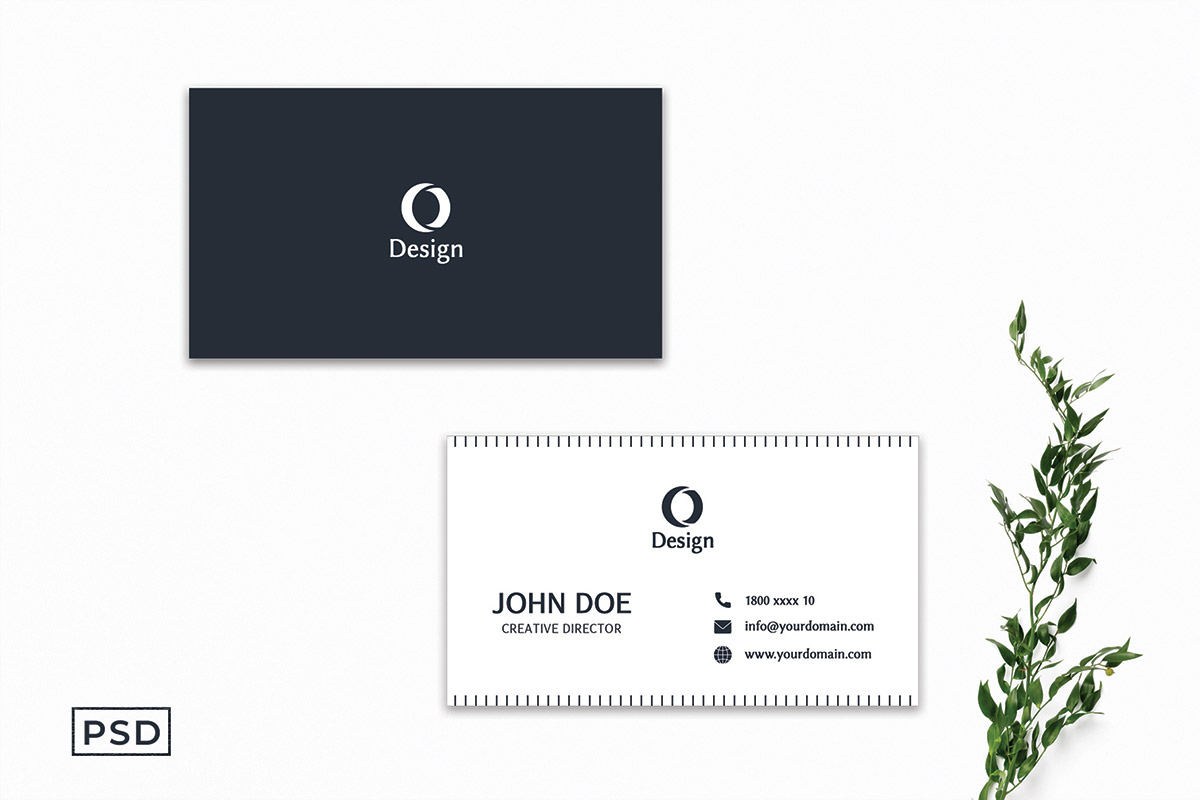 Free Elegant Minimal Business Card Template