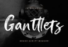 Free Ganttlets Script Font