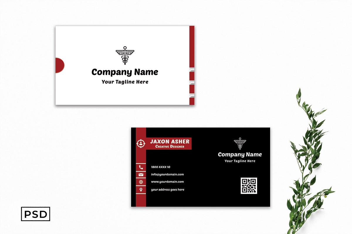 Free Innovative Minimal Business Card Template
