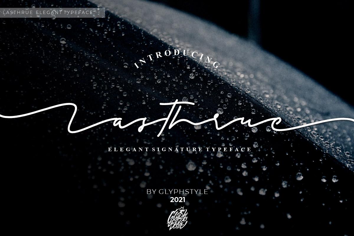 Free Lasthrue Signature Font