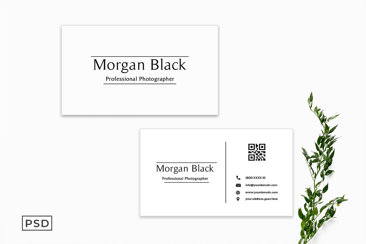Free Minimal Business Card Template V2