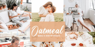 Free Oatmeal Lightroom Presets