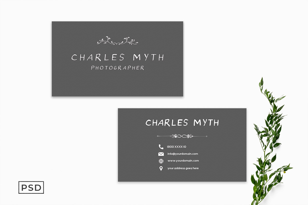 Free Photography Business Card Template V2