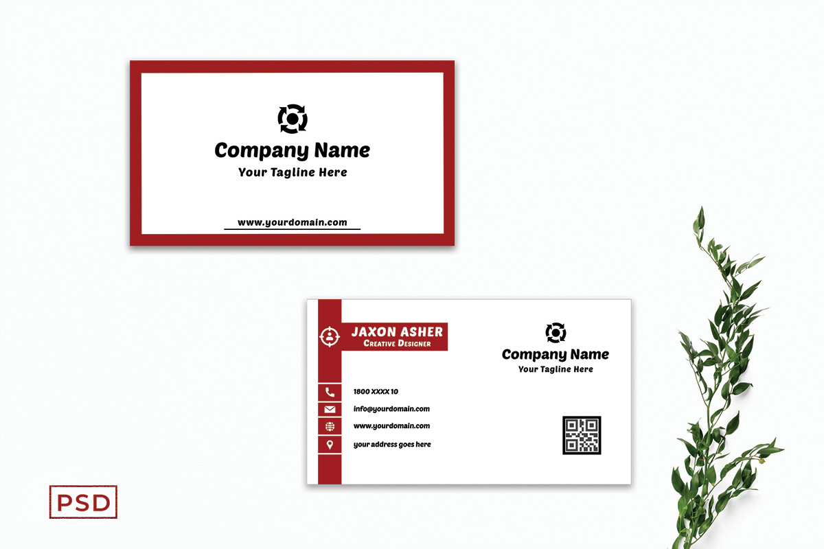 Free Red Business Card Template