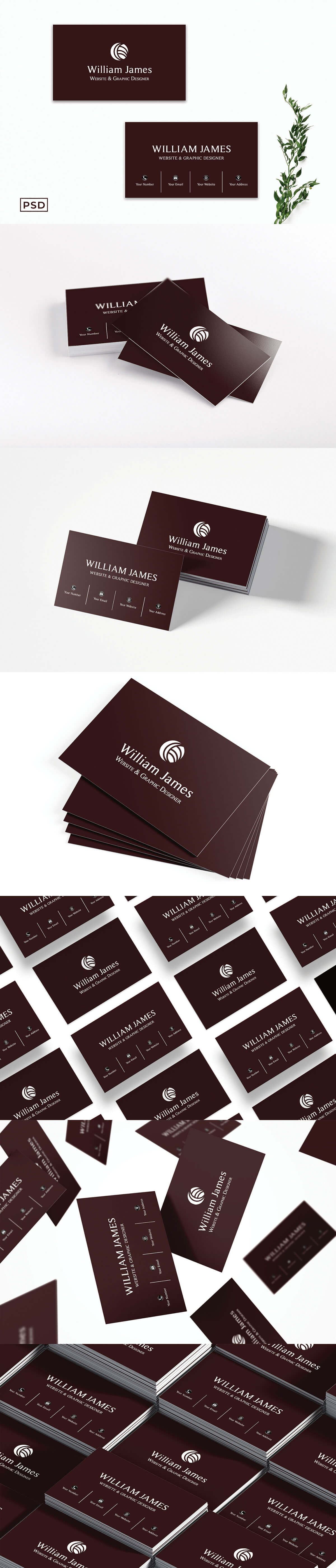 Free Red Minimal Business Card Template V2