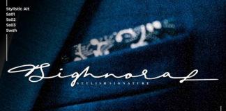 Free Sighnora Signature Font