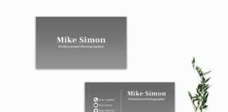 Free Simple Black Business Card Template