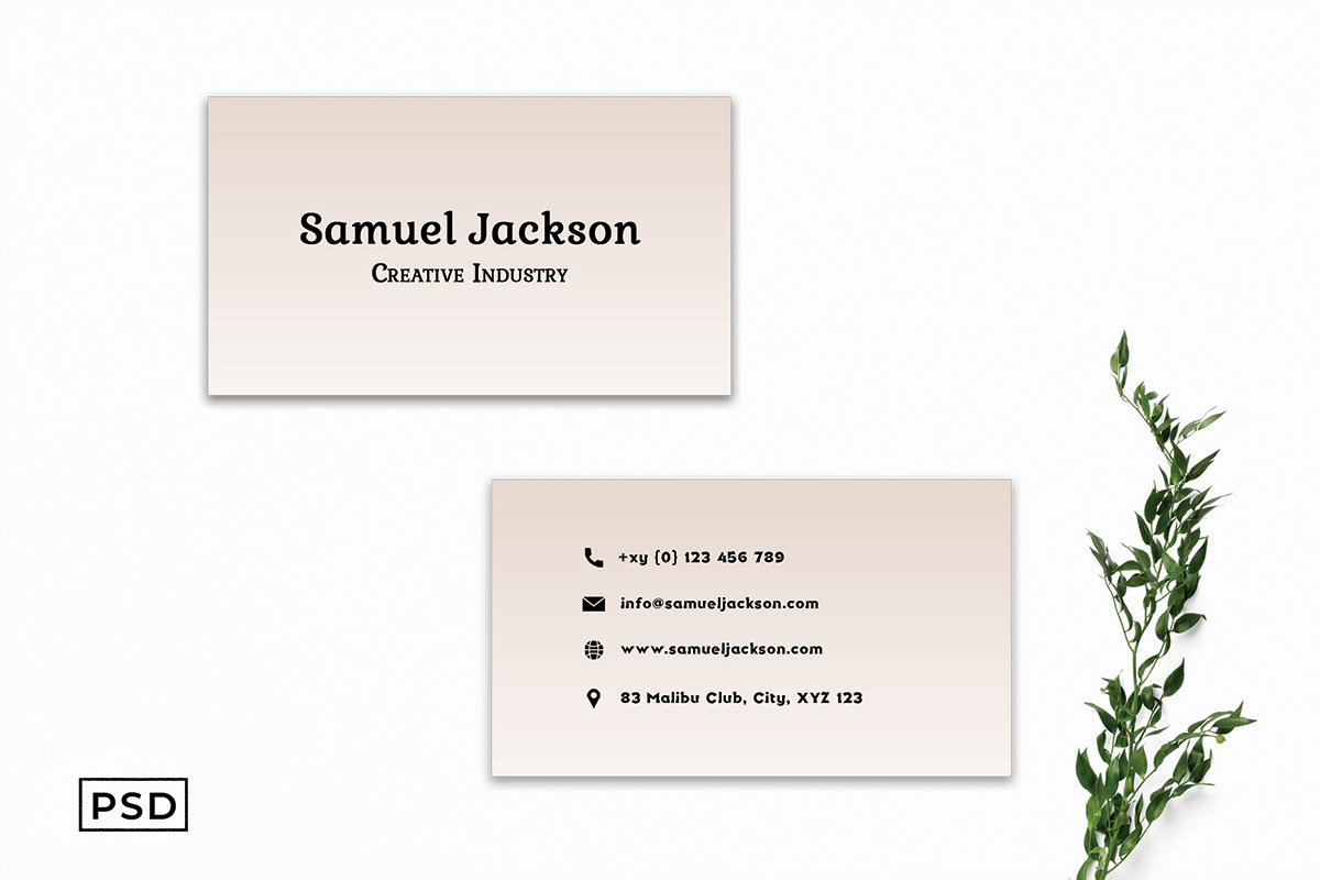 Free Simple Creamy Business Card Template