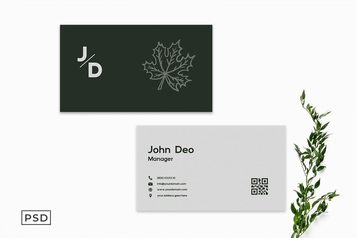 Free Simple Green Business Card Template