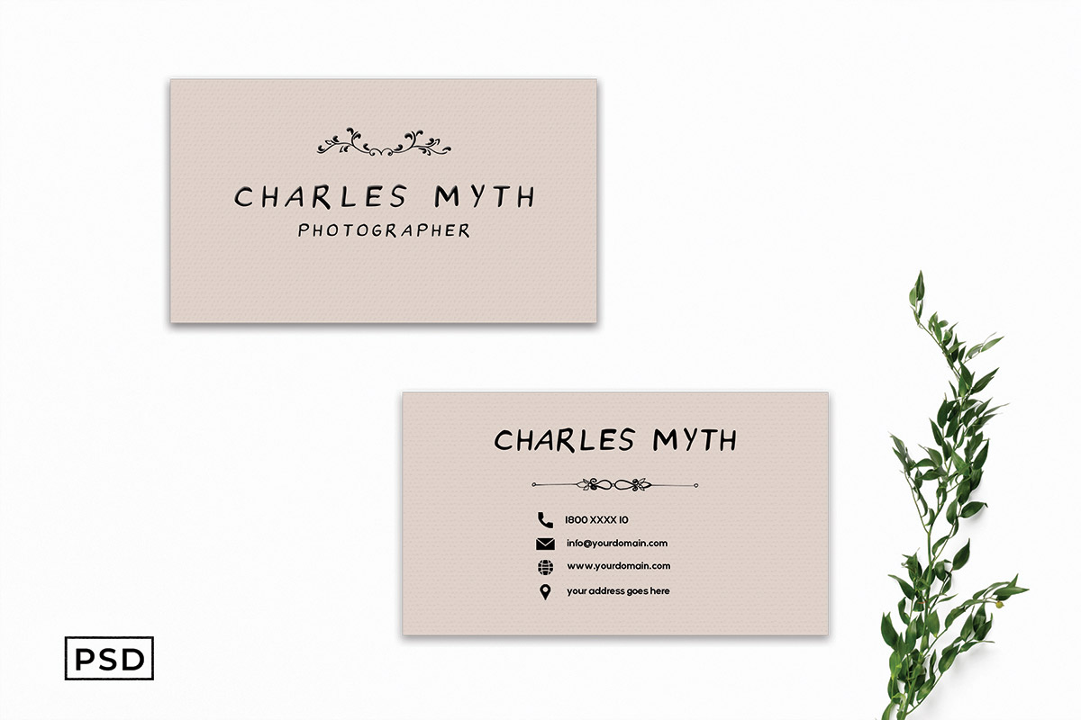 Free Sober Business Card Template