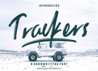 Free Trackers Handwritten Font