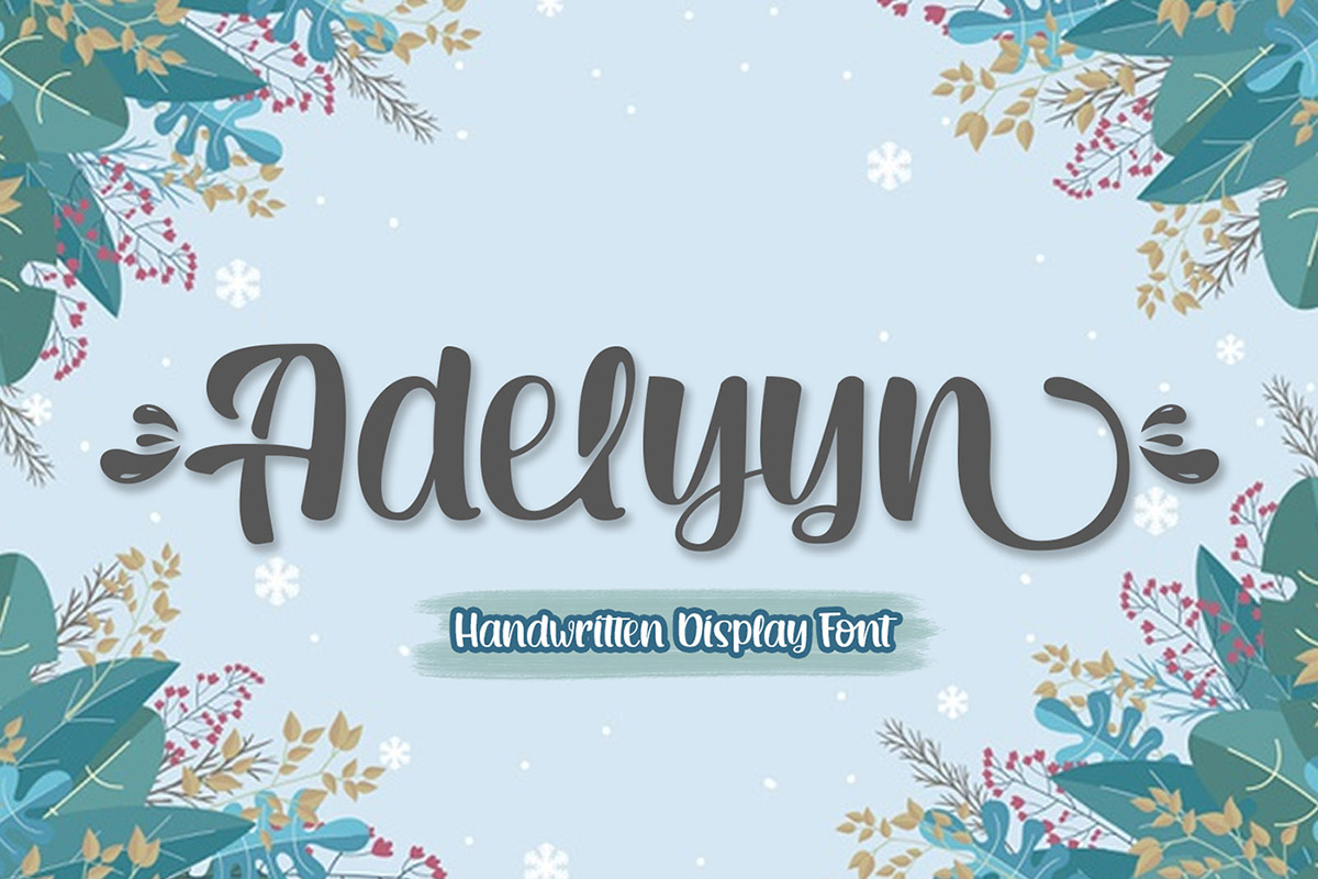 Free Adelyyn Display Font