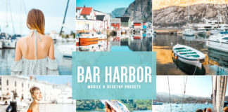 Free Bar Harbor Lightroom Presets