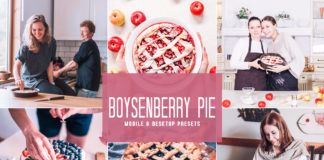 Free Boysenberry Pie Lightroom Presets