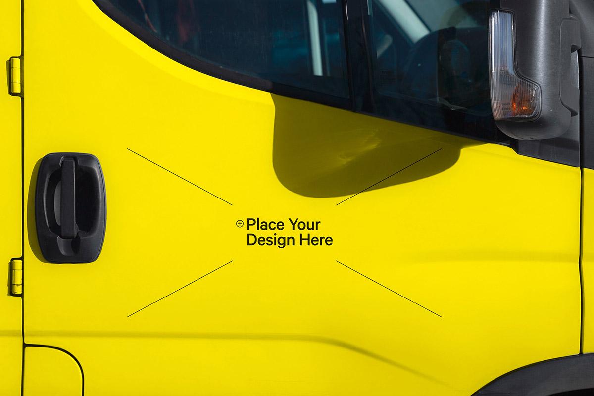 Free Car Sticker Mockup