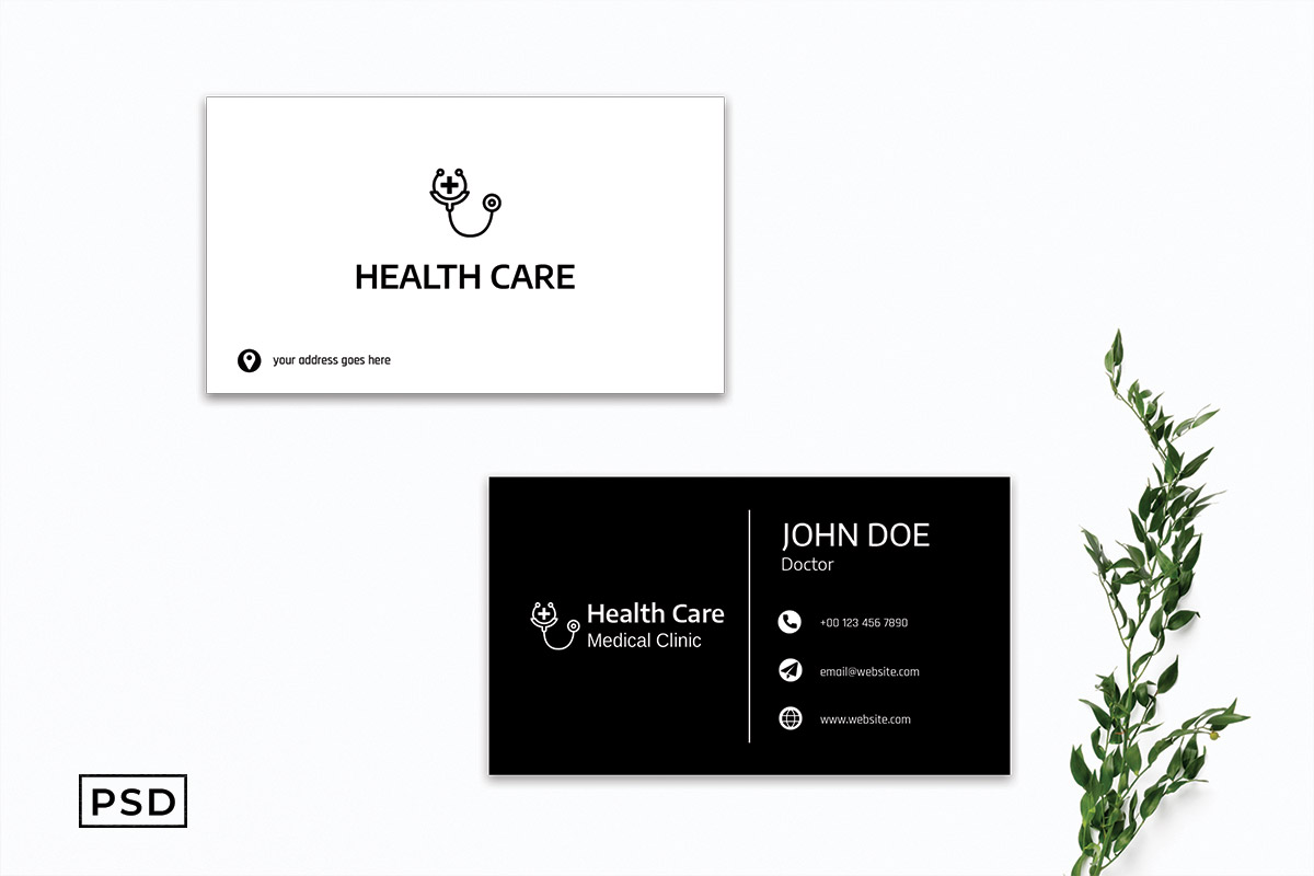 Free Medical Business Card Template V3