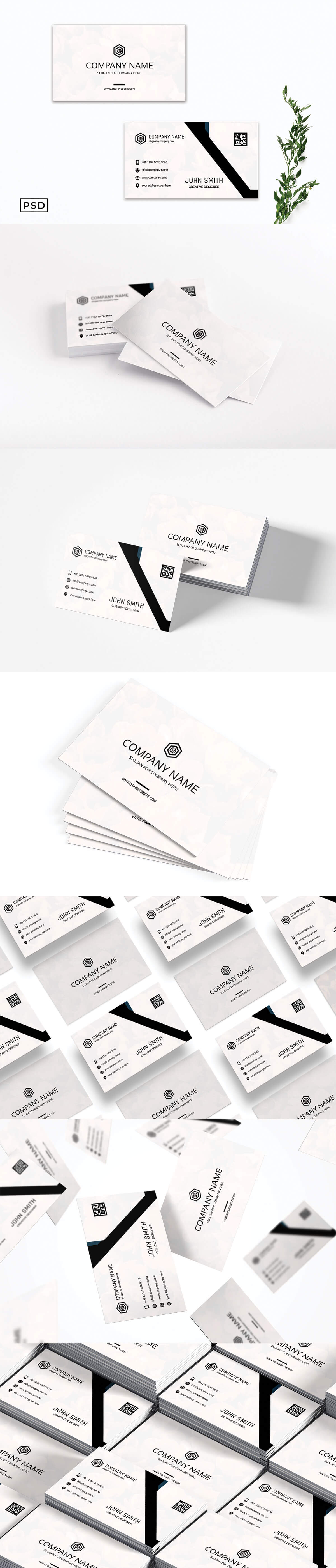 Free Creative Monogram Business Card Template