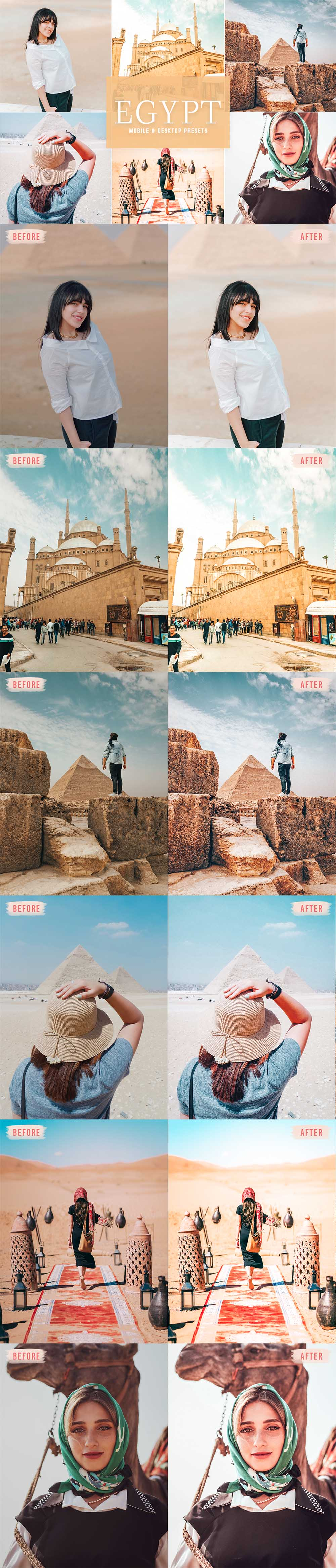Free Egypt Lightroom Presets