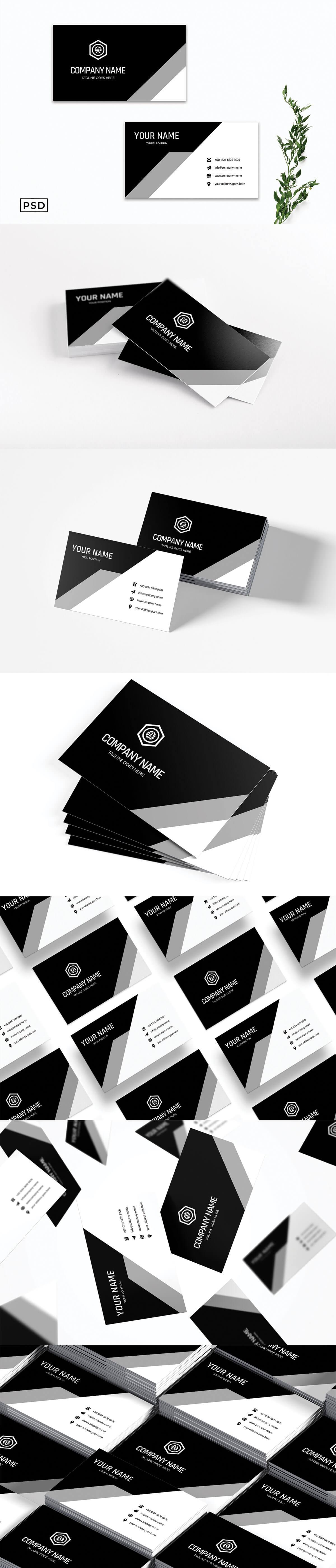 Free Modern Elegant Business Card Template