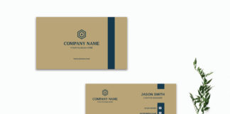 Free Brown Minimal Business Card Template