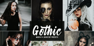 Free Gothic Lightroom Presets