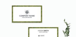 Free Greenery Business Card Template