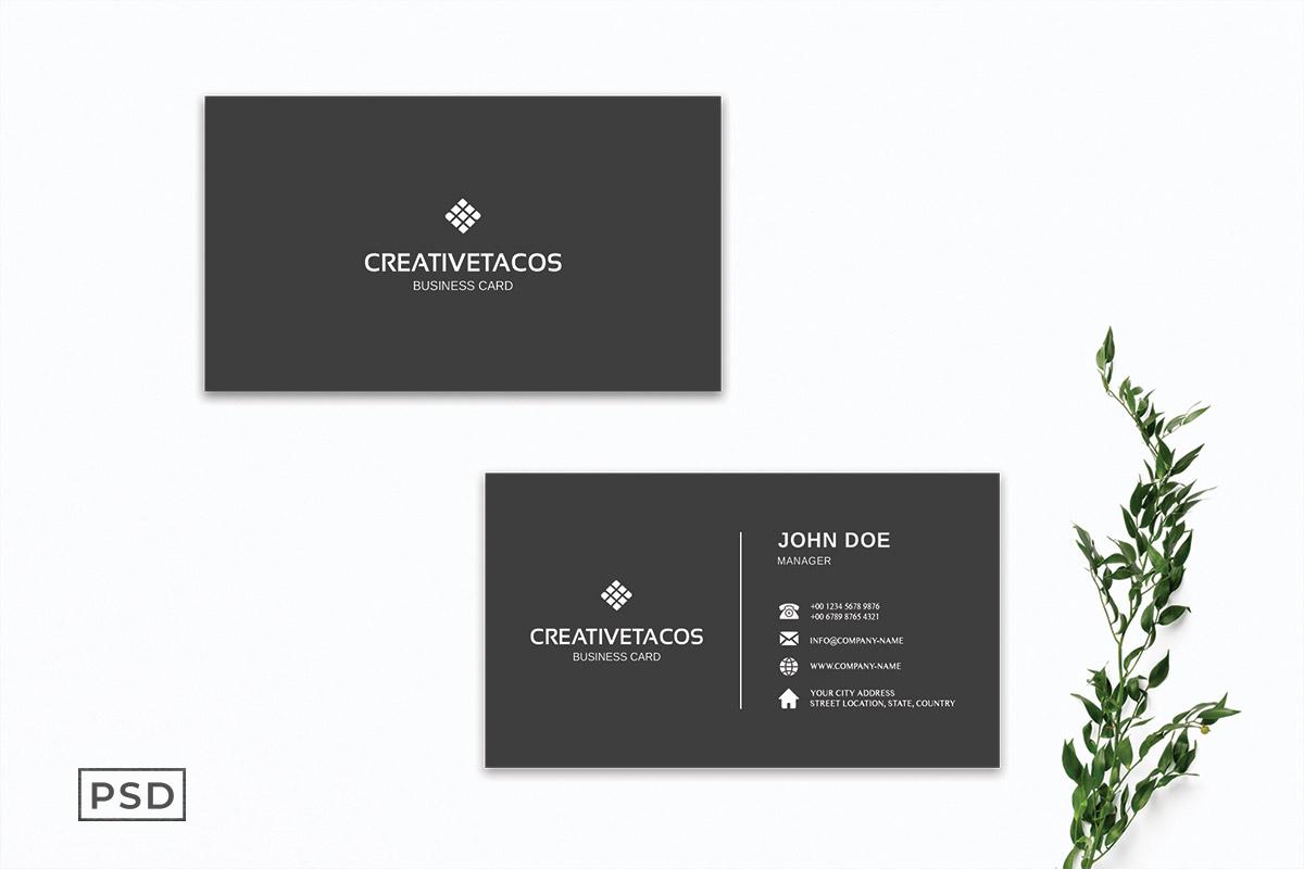 Free Grey Sober Minimal Business Card Template