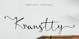 Free Kranstty Handwritten Font