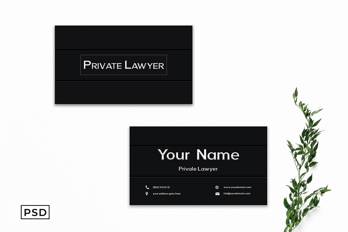 Free Lawyer Business Card Template V3