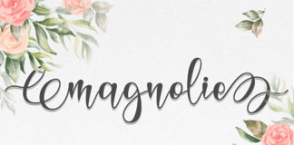 Free Magnolie Calligraphy Font
