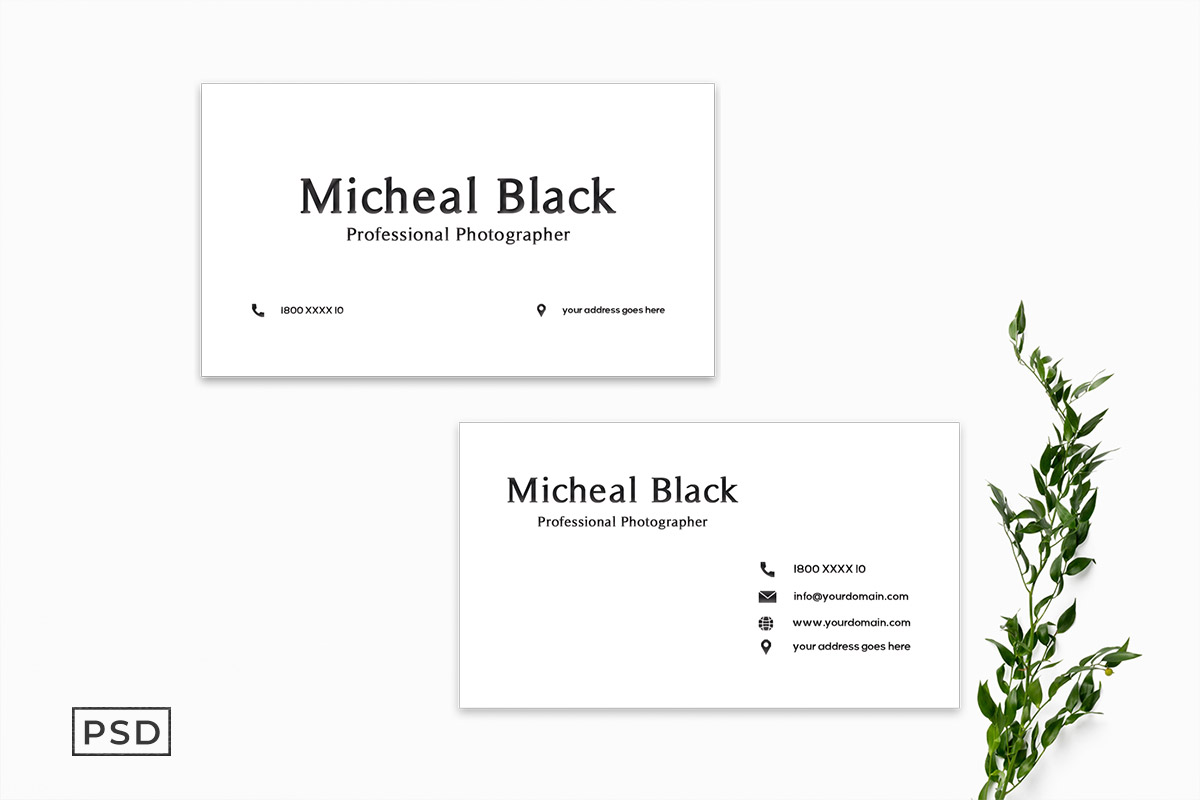 Free Minimal Business Card Template V3