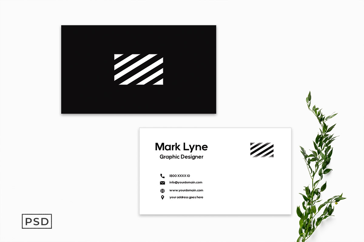 Free Minimal Business Card Template V4