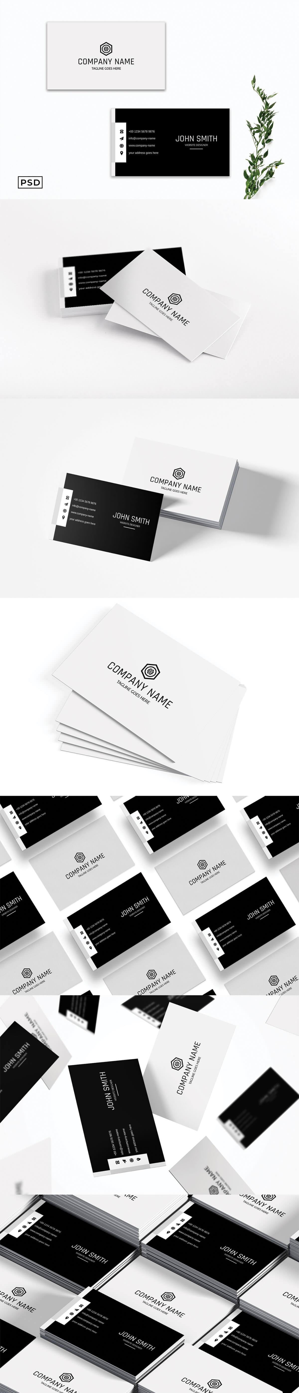 Free Elegant Minimalist Business Card Template