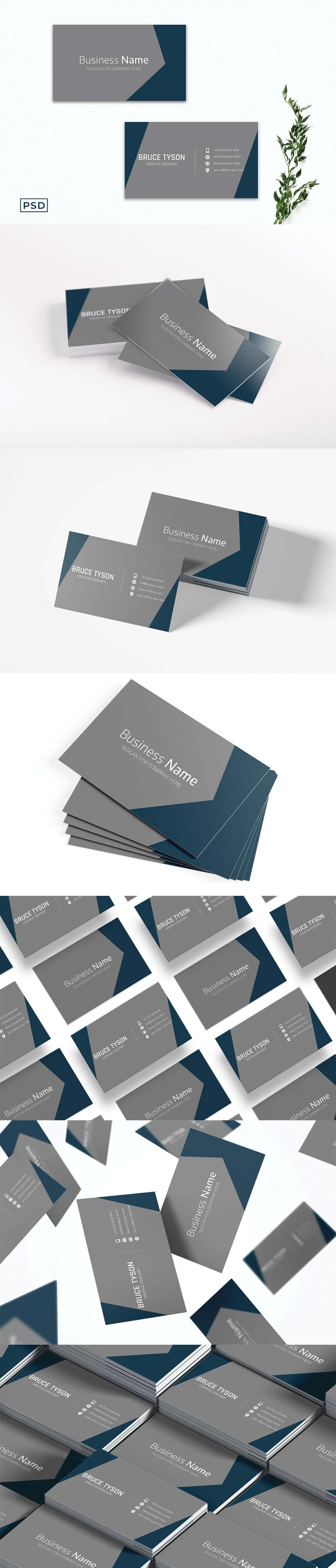 Free Modern Innovative Business Card Template