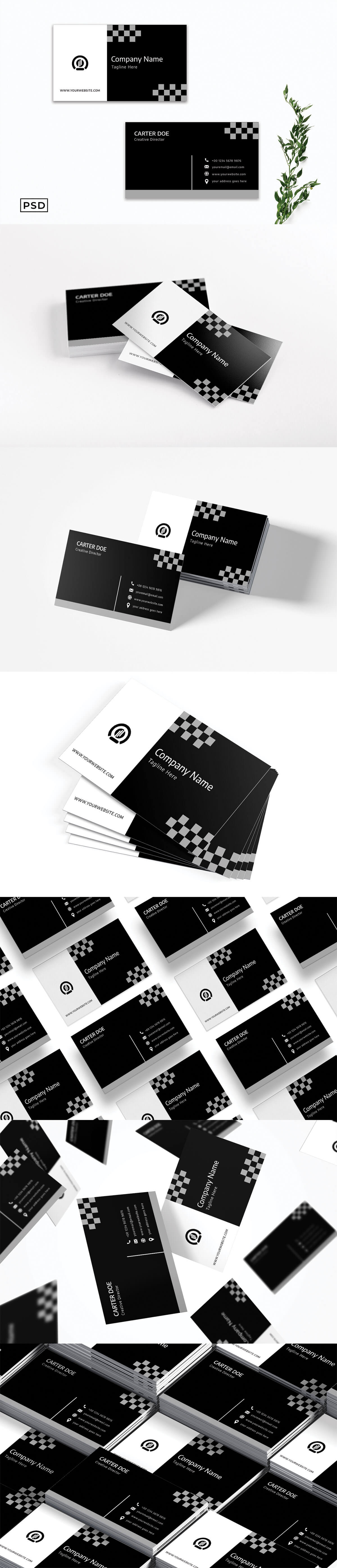Free BW Modern Business Card Template