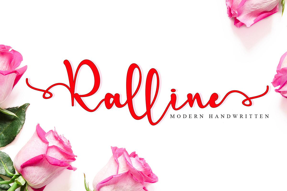 Free Ralline Handwritten Font