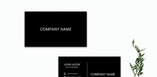 Free Simple Black Minimalist Business Card Template