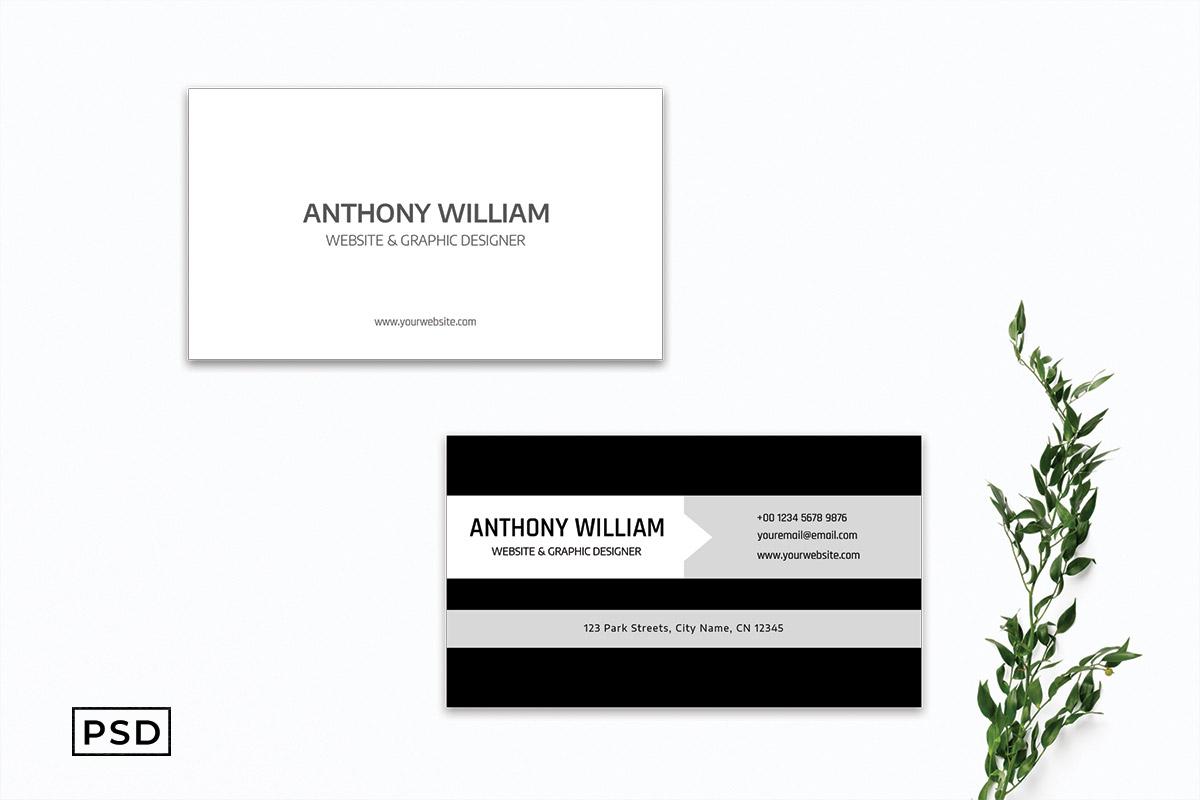 Free Simple Innovative Elegant Business Card Template
