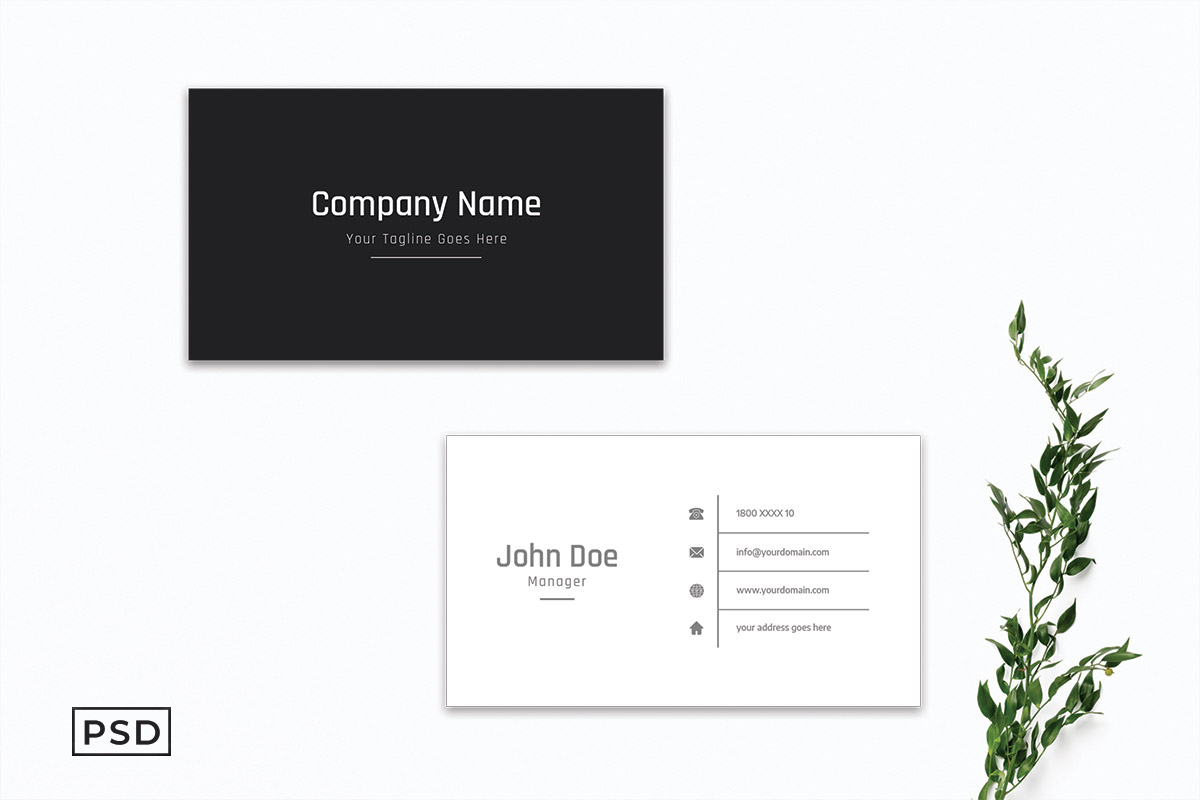 Free Sober Business Card Template V3